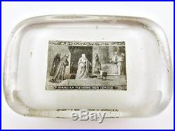 1893 Columbian Expo Chicago World's Fair Isabella Pledging Jewels Paperweight