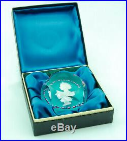1953 Saint Louis Queen Elizabeth Coronation Glass Paperweight Presentation Box