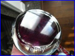 1971 PERTHSHIRE Glass Scotland Latticino & Millefiori PAPERWEIGHT Purple Ground