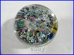 1973 Perthshire Art Glass Millefiori Paperweight Scrambled