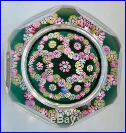 1978 Rare Whitefriars Millefiori Garland Paperweight Briefbeschwerer Mint