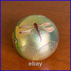 1979 Orient & Flume Art Glass Dragonfly Sculpture Paperweight Excellent