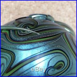 1979 Orient & Flume Blue Snake Art Glass Paperweight