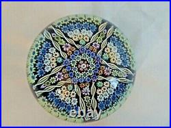 1979 PERTHSHIRE Glass Limited Edition PP30 5 Point Star Millefiori Paperweight
