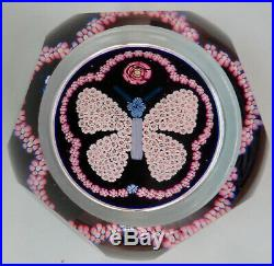 1979 Rare Millefiori Butterfly Clichy Flower Paperweight Briefbeschwerer Mint