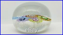 1980 Perthshire Art Glass Paperweight, 3 Diameter