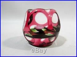 1980 Perthshire Scotland Art Glass Pom Pom Paperweight