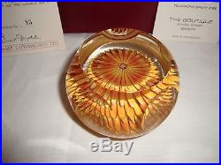 1986 PERTHSHIRE Paper weight Golden Dahlia Very Very rare find #83 of 300