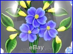 1993 Randall Grubb Studio Art Glass PAPERWEIGHT FLOWER BOUQUET Mint