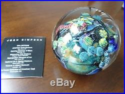 1994 Signed JOSH SIMPSON Inhabited PLANET 3 Paperweight Space Ship with Brochure