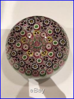 1996 Parabelle Paperweight with rose, pansy and pasty mold canes #2 of 10