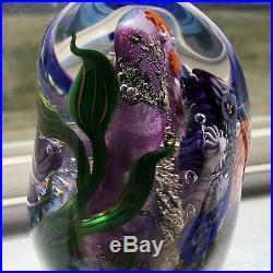 1997 Blacksheep Glass Coral Reef Underwater Art Glass Paperweight