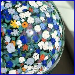 1997 Peter Raos Monet Summer Art Glass Paperweight