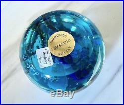 1999 Vintage MARINE LIFE Aquarium STEVEN LUNDBERG Studio ART GLASS PAPERWEIGHT