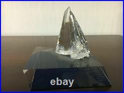 2 Swarovski crystal sailboats (price per piece)