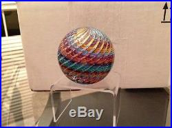 2010 James Alloway glass paperweight