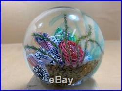 4 Huge Signed Mark Eckstrand Art Glass Sea Aquarium Coral Paperweight