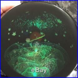 4 Signed Abelman Planet Art Glass Paperweight