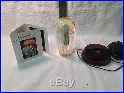 5.5 inch Satava glass Moon Jellyfish PW serial 2184-10 with light base and cord