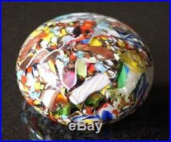 A Beautiful Vintage Murano Glass Tutti Frutti Paperweight