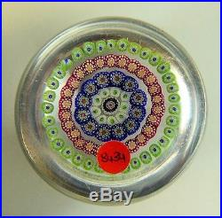 A FINE ANTIQUE FRENCH MILLEFIORE GLASS PAPERWEIGHT 19th CENTURY