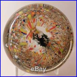 A MARVELOUS ANTIQUE Bohemian SULPHIDE LION SCULPTURE Art Glass Paperweight