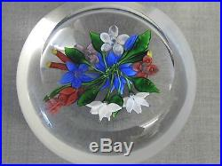 A Superb Boxed French Saint Louis Floral Bouquet 1981 Glass Paperweight