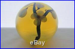 AMAZINGLY Plush ORIENT FLUME Vaseline Glass PAPERWEIGHT Bruce Sillars IRIDESCENT