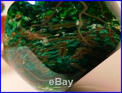 APPEALING CATHY RICHARDSON SUMMER SCENE Art Glass PAPERWEIGHT & Signature & Date