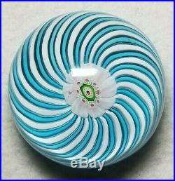 AUTHENTIC CLICHY SWIRL MILLEFIORI CRYSTAL GLASS HAND BLOWN PAPERWEIGHT 1850s