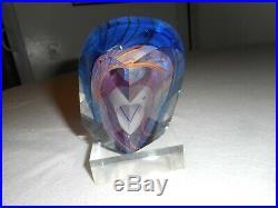 Amazing Harvey K. Littleton circa 1990 studio art glass SCULPTURE Paperweight
