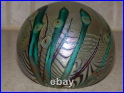 American Art Glass Paperweight Orient And Flume Iridescent Angelfish 1979