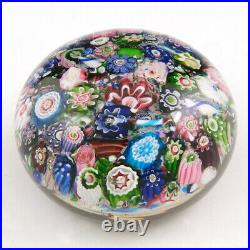 An Antique Clichy Scramble Paperweight With Rose Cane c1860