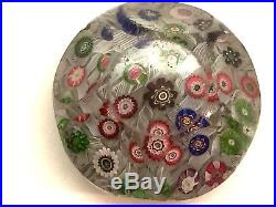 Antique 1850 Clichy Faceted Millefiori Paperweight