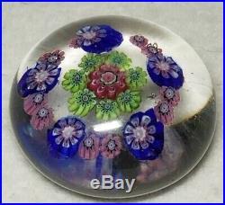 Antique 19th C. Clichy Glass Paperweight Concentric Millefiori Design