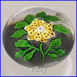 Antique BACCARAT YellowithBrown Wheat Flower