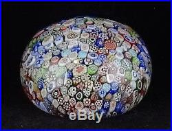 Antique Baccarat 1847 Cane Close Packed Millefiori Glass Paperweight Animals ++