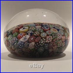 Antique Baccarat Art Glass Paperweight Complex Closepacked Millefiori