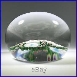 Antique Baccarat Art Glass Paperweight Complex Millefiori Garland