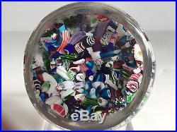 Antique Baccarat Clichy Glass Millefiori Close pack Paperweight 2 7/8 Diameter