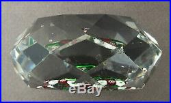 Antique Baccarat Double Clematis In Circle Of Millefiori Canes Glass Paperweight