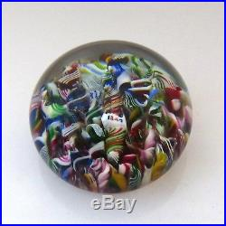 Antique Baccarat Dupont 1847 millefiori paperweight / presse papiers