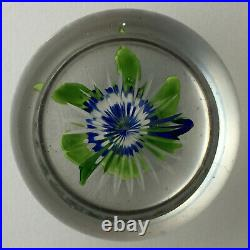 Antique Baccarat Primrose With Bud Glass Paperweight