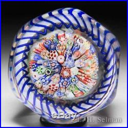 Antique Baccarat close packed millefiori mushroom faceted paperweight