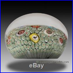 Antique Baccarat green carpet ground, rare French paperweight