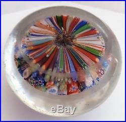 Antique. Baccarat millefiori paperweight. Hand-blown glass. Mid-19th century
