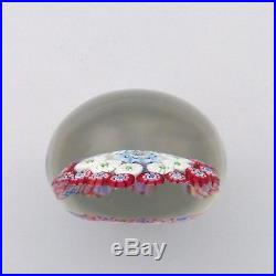 Antique Baccarat mini concentric millefiori glass paperweight / presse papiers