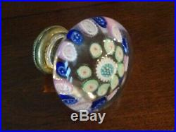 Antique Bohemian Glass Paperweight Millefiori Concentric Door Knob Doorknob