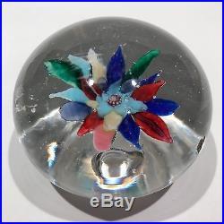 Antique Boston & Sandwich Art Glass Paperweight Fantasy Flower With Millefiori