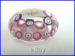 Antique CLICHY Millefiori Art Glass Paperweight Flower Center